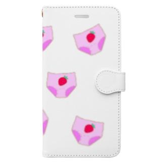 いちごぱんつ。 Book-style smartphone case