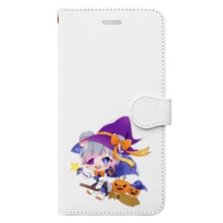 こあらくん ワンポイント Book-style smartphone case