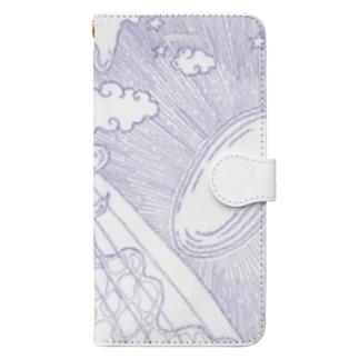 空の青 海の藍 Book-style smartphone case