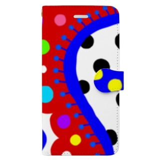 riekim  ドット Book-style smartphone case