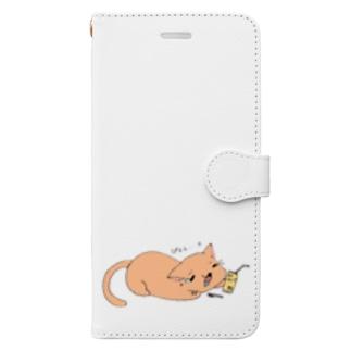 ぴぇん猫 Book-style smartphone case