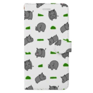 サイと草 Book-style smartphone case