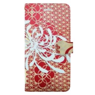 菊の花 Book-style smartphone case