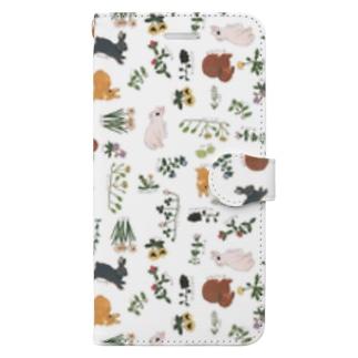 春待ちうさぎ Book style smartphone case