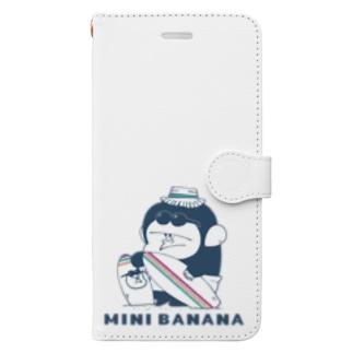 MINI BANANA サーフィンゴリラ親子 Book-style smartphone case
