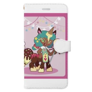 お菓子なユニコーン Book-style smartphone case
