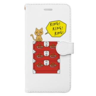 リンリンリンだにゃ! Book-style smartphone case