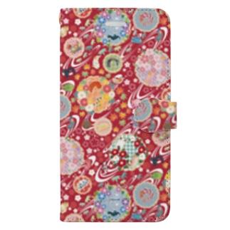 和柄ウミウシ 赤 Book-Style Smartphone Case