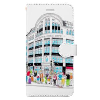 Berlinシリーズ「信号待ち」 Book-style smartphone case