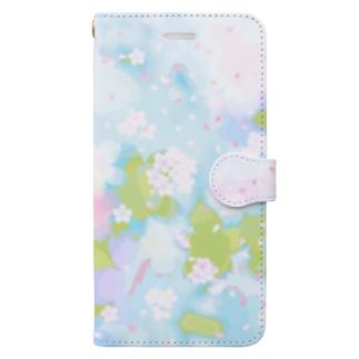 桜32 Book-style smartphone case