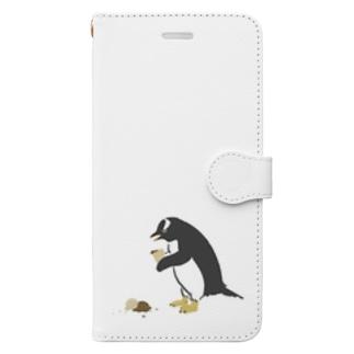 アイス落としちゃったジェンツーペンギンさん Book-style smartphone case