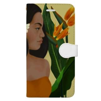 ポリネシアン in hawaii Book-style smartphone case