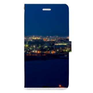 工場夜景1 Book-style smartphone case