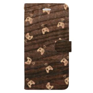 【コントローラー】寄木風スマホケース3033 Book-style smartphone case