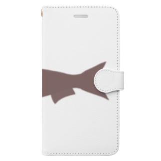 真イワシ シルエット Book-style smartphone case