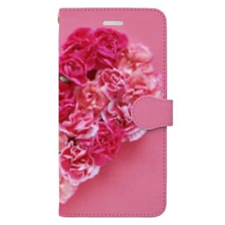 バラ ピンク Book-style smartphone case