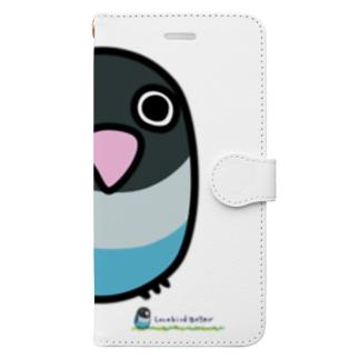 LOVEBIRD BOTAN 前向き Book-style smartphone case