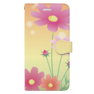 コスモス1 Book-style smartphone case
