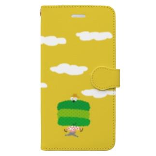 お茶畑くん手帳型ケース Book-style smartphone case