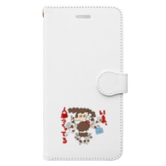 意識高い プードル Book-style smartphone case