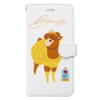 美女と野獣 Book-style smartphone case