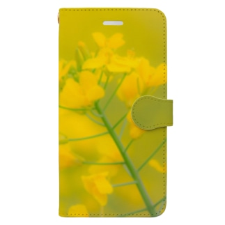 菜の花 Book-style smartphone case