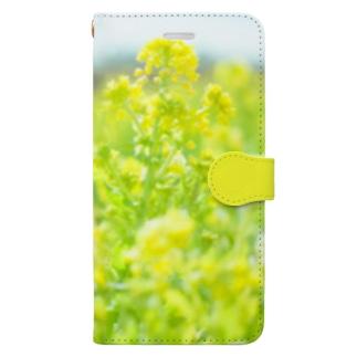 菜の花6 Book-style smartphone case