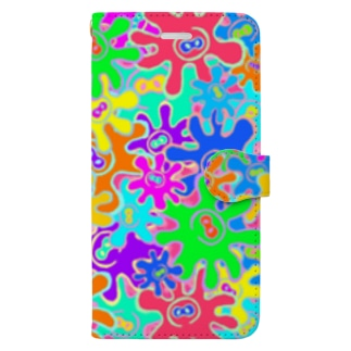 🐙🌼たこはな総柄🌼🐙 Book-style smartphone case
