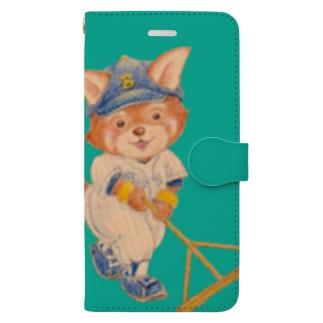 野球日和 僕らのダイヤモンド・緑 Book-style smartphone case