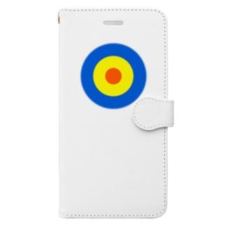 サークルa・青・黄・オレンジ Book-style smartphone case