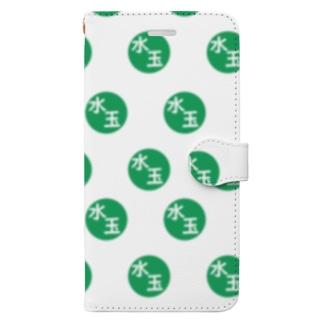 水玉の水玉(ミドリ) Book-style smartphone case