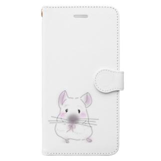チンチラ Book-style smartphone case