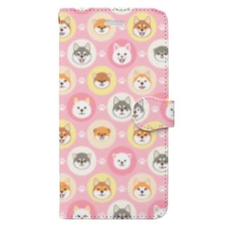 柴犬ざんまい Book-style smartphone case