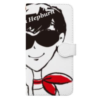 〝ヘプバーンのように〟_2 Book-style smartphone case