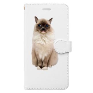 おすわりもなか Book-style smartphone case