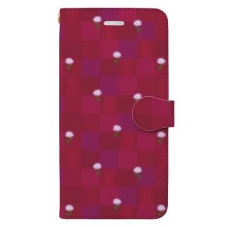 マーガレット(レッド) Book-style smartphone case