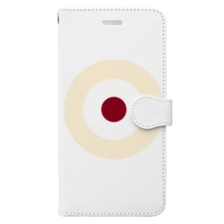 CORONET70のサークルa・クリーム2・白・チョコ Book-style smartphone case