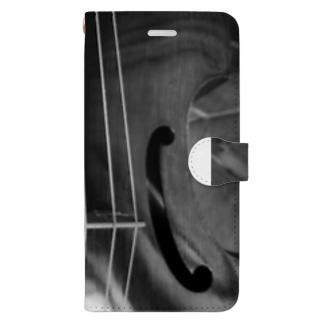 la viole monochrome Book-style smartphone case