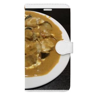 手作りバターチキンカレー Book-style smartphone case