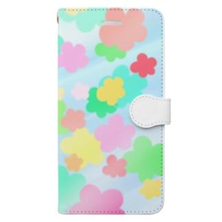 クリスタルフラワー(花柄) Book-style smartphone case