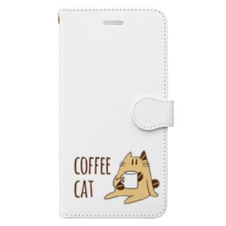 COFFEE CAT Book-style smartphone case