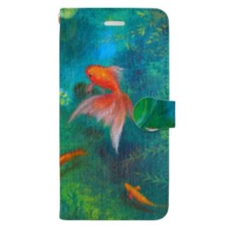 金魚モチーフ_涼 Book-style smartphone case