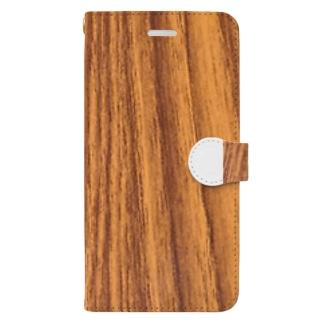 木目。 Book-Style Smartphone Case