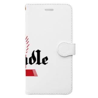 銀座キャンドル ロゴシリーズ Book-style smartphone case