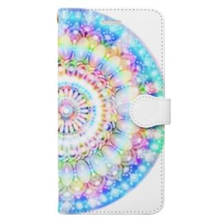 星の花かんむり Book-style smartphone case