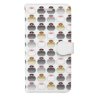 文ちゅんず いっぱいバージョン Book-style smartphone case