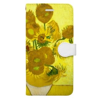 ゴッホ/ひまわり Vincent van Gogh / Sunflowers Book-style smartphone case
