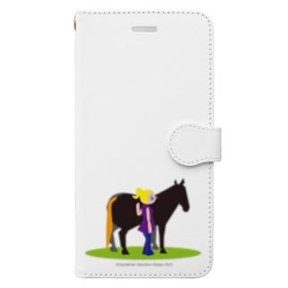 うまのりめいじん①(馬シリーズ) Book-style smartphone case