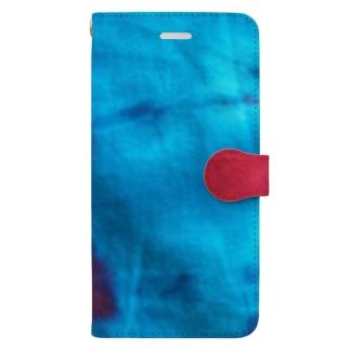 zakkaya 雑貨屋 孵 kaeruのピンク&ブルー Book-style smartphone case