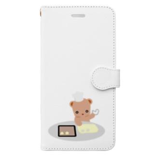 クッキーとクマさん Book-style smartphone case